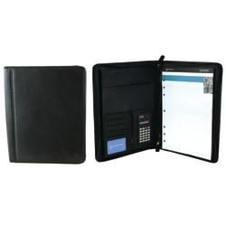 Office Depot® Brand Leather Padfolio, Black
