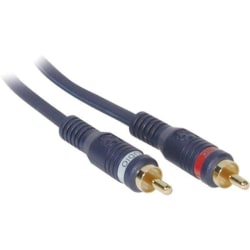 C2G 100ft Velocity RCA Stereo Audio Cable - RCA Male - RCA Male - 100ft - Blue