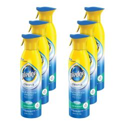 Pledge® Clean & Dust Multi-Surface Aerosol, Rainshower, 9.7 Oz, Pack Of 6