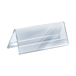 """Azar Displays 2-Sided Acrylic Nameplates, 4 1/4"""" x 11"""", Clear, Pack Of 10"""