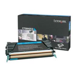Lexmark Cyan High Yield Toner Cartridge - Laser - 10000 Page - Cyan