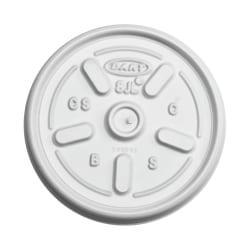 Dart® Plastic Lids For 3.5 - 10 Oz Foam Cups, Vented, White, Pack Of 1,000 Lids