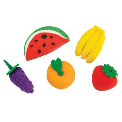 Office Depot® Brand Pencil Erasers, Fruit Basket, Pack Of 4
