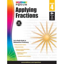 Spectrum® Applying Fractions Workbook, Grade 4