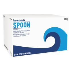 Boardwalk Heavyweight Polystyrene Teaspoons, Black, Pack Of 1,000 Spoons