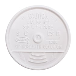 Dart Sip Thru Lid - 1000 / Carton - Translucent