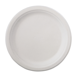 "Chinet® Classic Paper Plates, 9 3/4"", White, 125 Plates Per Pack, Carton Of 4 Packs"