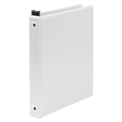 "Wilson Jones® Large-Capacity Hanging View 3-Ring Binder, 1"" Round Rings, White"
