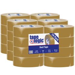 "Tape Logic® Color Duct Tape, 3"" Core, 2"" x 180', Beige, Case Of 24"