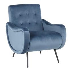 LumiSource Rafael Lounge Chair, Black/Teal