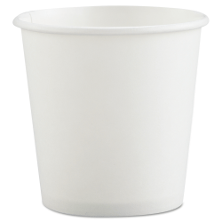 SOLO® Single-Sided Polycoated Paper Hot Cups, 4 oz, White, Case Of 1,000