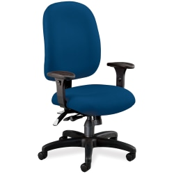 OFM Super Task Fabric High-Back Computer Chair, Navy/Black