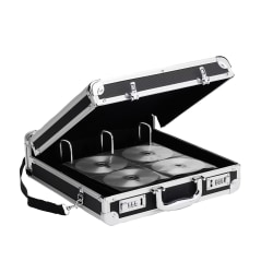 Vaultz® Locking CD/DVD Binder Case, 200-Disc Capacity, Black