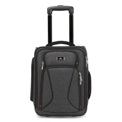 "High Sierra® Endeavor Wheeled Carry-On Bag With 15"" Laptop Pocket, Heather Grey"