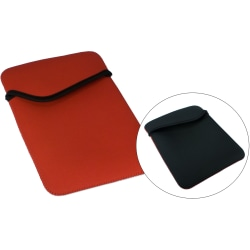 QVS - Protective sleeve for tablet - nylon - black, red - for Apple iPad 1; 2
