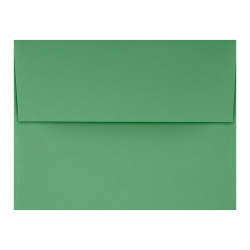 "LUX Invitation Envelopes With Peel & Press Closure, A2, 4 3/8"" x 5 3/4"", Holiday Green, Pack Of 250"