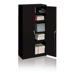 HON® Steel Storage Cabinet, 3 Shelves, Charcoal