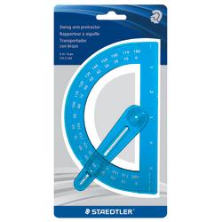 """Staedtler® Plastic Protractor, 6"""", Blue"""