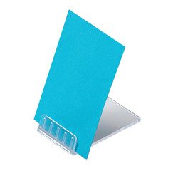"""Deflecto® Angled Table-Top Sign Holder, 2 3/8""""D x 1 9/16""""W x1/2""""H, Clear, Pack of 10"""