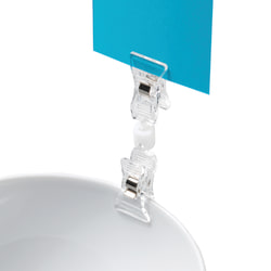 """Deflecto® VersaGrip® Sign Holder With 2 Clips, 3 1/2""""H x 7/8""""W x 1/2""""D, Clear, Pack Of 10"""