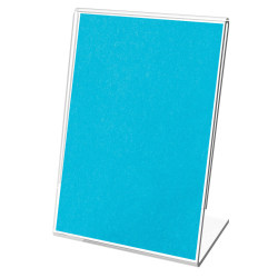 """Deflecto® Mini Tabletop Sign Holder, 4 1/8""""H x 3""""W x 1 5/8""""D, Clear, Pack Of 10"""