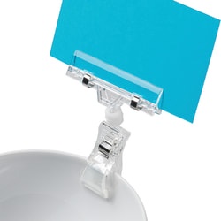 """Deflecto® VersaGrip™ Sign Holder With Large Clip, 4 1/8""""H x 3 1/8""""W x 1/4""""D, Clear, Pack Of 5"""