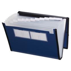 Pendaflex® Professional Poly Expanding File, 13 Pockets, Letter Size, Metallic Blue