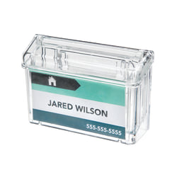 """Deflecto® Grab-A-Card® Outdoor Business Card Holder, 4 1/4""""H x 2 7/8""""W x 1 1/2""""D, Clear"""