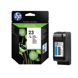 HP 23, Tricolor Original Ink Cartridge (C1823D)