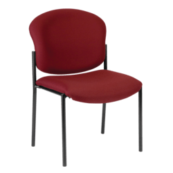 OFM Manor Series Guest Reception Chair, Wine/Black