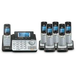 VTech® DS6151 DECT 6.0 Expandable 2-Line Phone System Plus 6 DS6101 Cordless Handsets