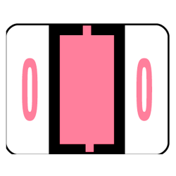 Smead® BCCRN Bar-Style Permanent Numerical Labels, 0, Pink, Roll Of 500
