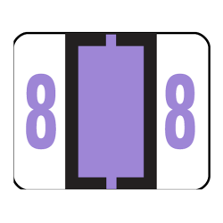 Smead® BCCRN Bar-Style Permanent Numerical Labels, 8, Lavender, Roll Of 500
