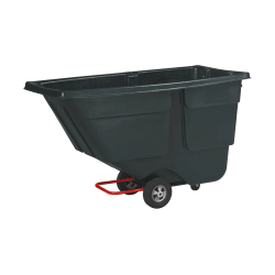 """Rubbermaid® Commercial Products Service Truck, 38 5/8"""" x 56 3/4"""" x 28"""", 1/2 Cubic Yard, Black"""