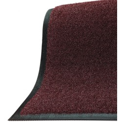 "M+A Matting Brush Hog Floor Mat, 36"" x 96"", Burgundy Brush"