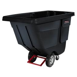 "Rubbermaid Commercial 850lb Capacity Utility Tilt Truck - 850 lb Capacity - x 33.5"" Width x 72.2"" Depth x 43.8"" Height - Black - 1 Each"