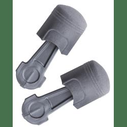 Pistonz™ Earplug, Polyurethane, Gray, Thumb-Grip, Uncorded