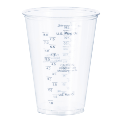 Solo Tall PET Graduated Medical Cups - 10 fl oz - 1000 / Carton - Clear - Polyethylene Terephthalate (PET) - Measuring, Medicine, Medical, Dental