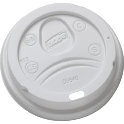 Dixie 10 oz. Paper Hot Cup Lid - Dome - 1000 / Carton - White