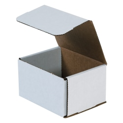 """Office Depot® Brand 8"""" Corrugated Mailers, 6""""H x 7""""W x 8""""D, White, Pack Of 50"""