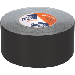 Shurtape PC 618C Performance Grade Colored Cloth Duct Tape, 2.83 in x 60 yd., Black, Case Of 16 Rolls