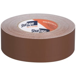"""Shurtape PC 618C Cloth Duct Tape, 1-7/8"""" x 60 Yd, Brown, Case Of 24 Rolls"""