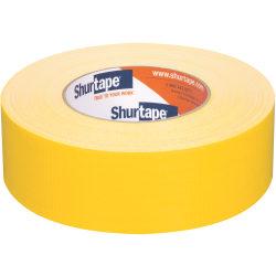 "Shurtape PC 618C Cloth Duct Tape, 1-7/8"" x 60 Yd, Yellow"