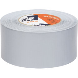 "Shurtape PC 618 Co-Extruded Cloth Duct Tape, 2-7/8"" x 60 Yd, Silver"
