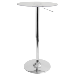 Lumisource Adjustable Table, Clear/Chrome