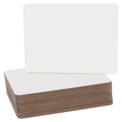 "Flipside Round Corners Dry-Erase Lap Boards, 9 1/2"" x 12"", White, Pack Of 24"