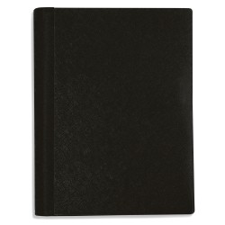 "Office Depot® Brand Spiral Stellar Poly Notebook, 6"" x 9"", 3 Subject, College Ruled, 120 Sheets, 56% Recycled, Black"