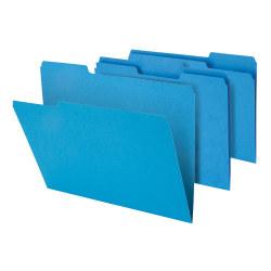 "Office Depot® Brand Heavy-Duty File Folders, 3/4"" Expansion, Letter Size, Blue, Pack Of 18 Folders"