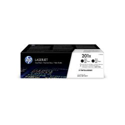 HP 201X High-Yield Toner Cartridges, Black (CF400XD), Pack Of 2