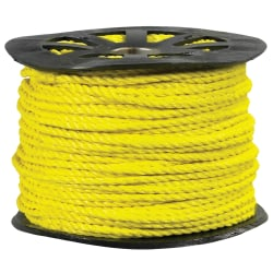"""Office Depot® Brand Twisted Polypropylene Rope, 7,650 Lb, 3/4"""" x 600', Yellow"""